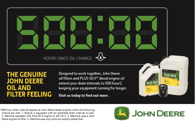 John Deere Filter and Oil Promotion